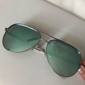DesiXquay Blue Mirrored Sunglasses